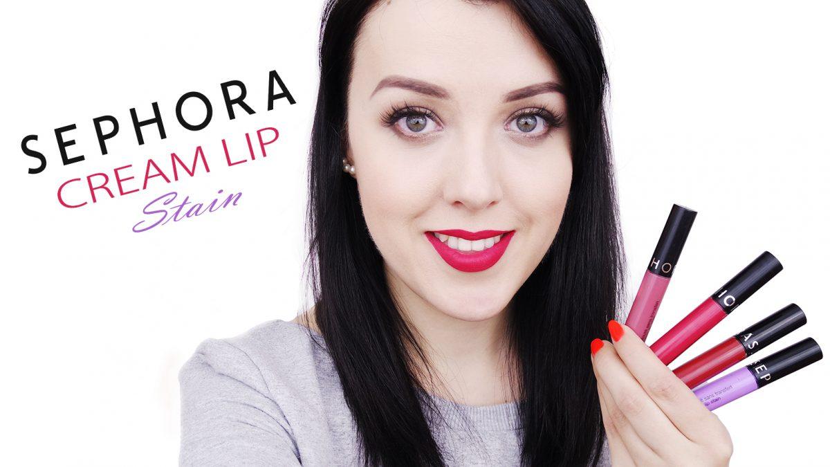 Sephora Cream Lip Stain – Swatche 21 odcieni matowych pomadek!