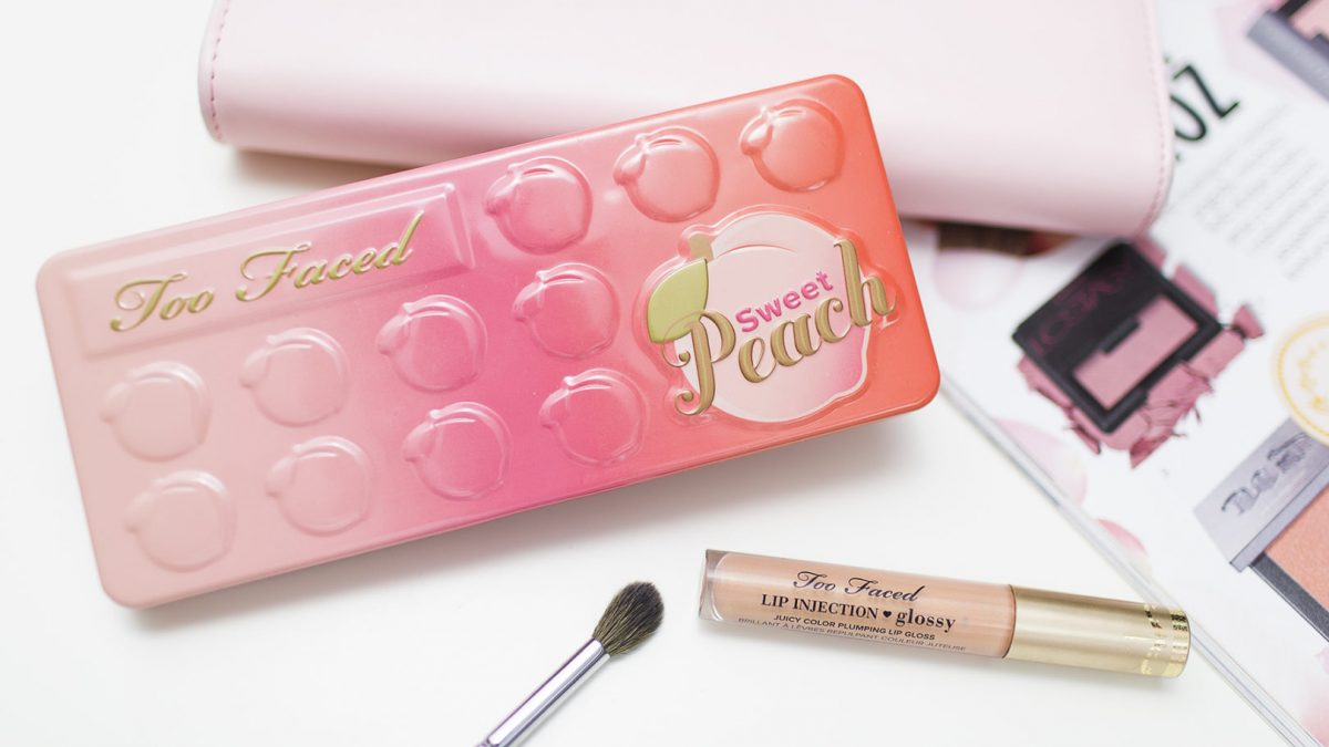 Too Faced: Sweet Peach & Lip injection Glossy make up