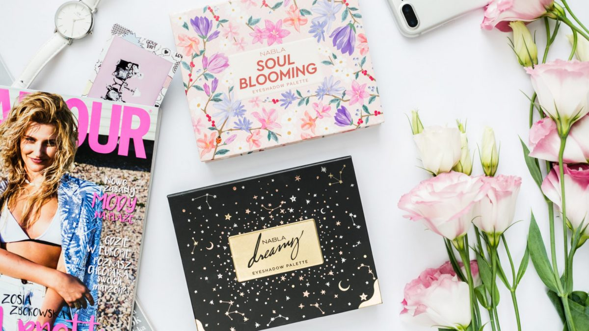 Nabla Dreamy i Nabla Soul Bloomig – makijaże, swatche, porównanie palet