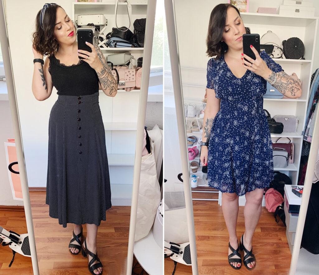 Lumpeksy zakupy dziewczyna w sukience