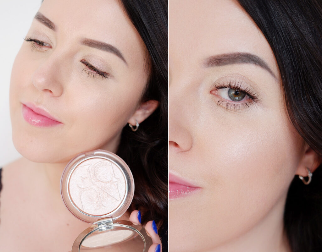 Minimalistyczny glow makijaż rozświetlajacy, prosty na codzień