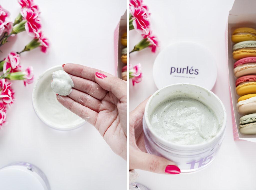 Pistacho Scrub peeling do ciała Purles pistacjowy konsystencja